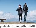 富士山視圖徒步旅行夫婦 40738604