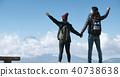 富士山視圖徒步旅行夫婦 40738638