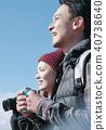 富士山視圖徒步旅行夫婦 40738640