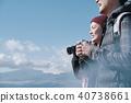 富士山视图徒步旅行夫妇 40738661