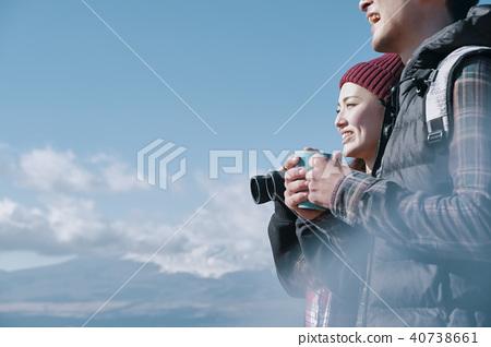 徒步旅行 夫妇 一对 40738661