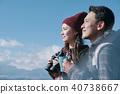 富士山视图徒步旅行夫妇 40738667