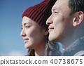 富士山視圖徒步旅行夫婦 40738675