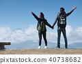 富士山視圖徒步旅行夫婦 40738682