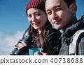 富士山视图徒步旅行夫妇 40738688