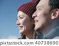 富士山視圖徒步旅行夫婦 40738690
