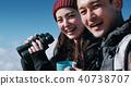 富士山視圖徒步旅行夫婦 40738707