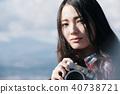 女性相機拍攝肖像 40738721