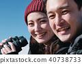 富士山視圖徒步旅行夫婦 40738733