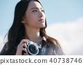 女性相機拍攝肖像 40738746