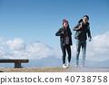 富士山 徒步旅行 夫婦 40738758