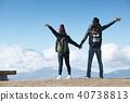 富士山視圖徒步旅行夫婦 40738813