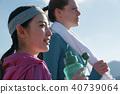 外國人女人健身補水 40739064