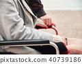 轮椅妇女和男子 40739186