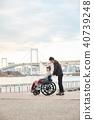 轮椅妇女和男子 40739248
