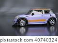 3D Rendering of Generic Concept Racing Car. 40740324