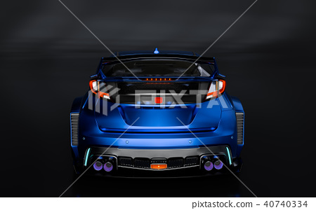 3D Rendering of Generic Concept Racing Car. 40740334