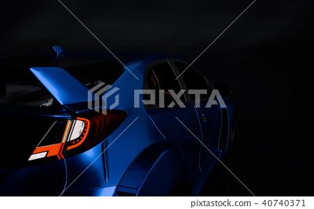 3D Rendering of Generic Concept Racing Car. 40740371