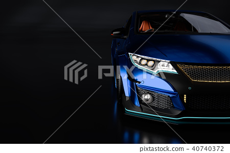 3D Rendering of Generic Concept Racing Car. 40740372