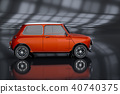 3D Rendering of Generic Concept Car. 40740375