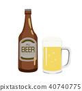 맥주, 병, 맥주잔 40740775