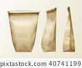 Vector wrinkled paper bag set 40741199