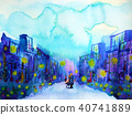 couple lover hug kissing in city urban background 40741889