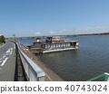 靠碼頭 卸貨到碼頭上 河 40743024