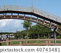 拱橋 藍天 藍色 40743481