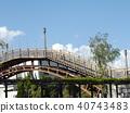 拱橋 藍天 藍色 40743483