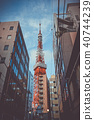 Tokyo tower and buildings, Japan 40744239