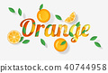 Word orange design in paper art style 40744958