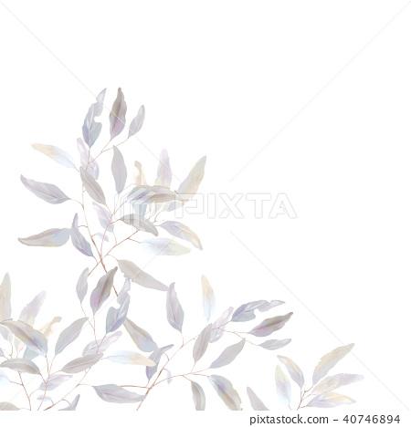 水彩優雅的葉子集合 40746894