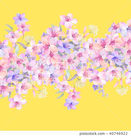 水彩花牡丹花 40746922