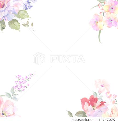 水彩玫瑰花採集 40747075