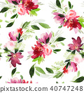 floral, flower, watercolor 40747248