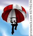 Parachute Flying Businessman Concept 40749236