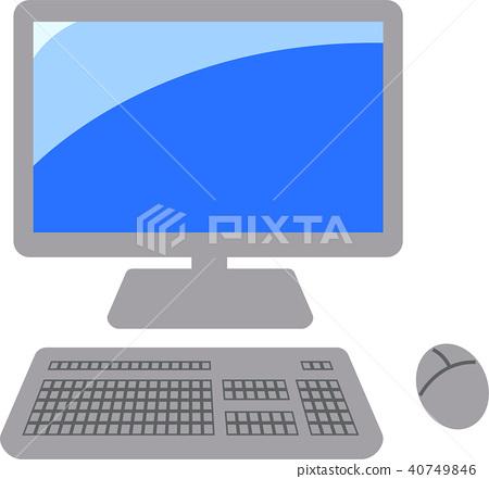 鍵盤 電腦 個人電腦 40749846