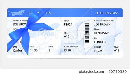 Boarding pass (ticket, traveler check template) wi 40750380