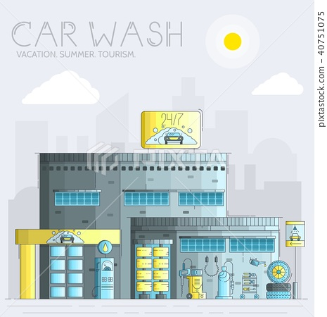 24 7 working car wash with different equipment 40751075