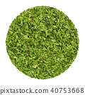 Dried parsley, herb circle from above, over white 40753668