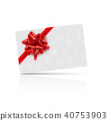 gift bow card 40753903