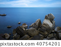 Long exposure of rock and sea 40754201