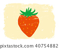 Strawberry hand-painted watercolor painting 40754882