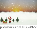 Miniature of Santa Claus is prepare for Christmas 40754927