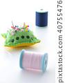 針墊和縫紉線 40755476