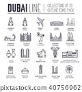 Country Dubai travel vacation guide of goods. 40756962