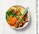 Asian Tofu Soba Noodle Bowl 40758076