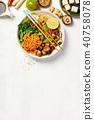 Asian Tofu Soba Noodle Bowl 40758078