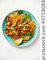 Asian Tofu Soba Noodle Bowl 40758088